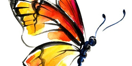 Online Butterfly Painting Art Class.  All ages are welcome. tickets