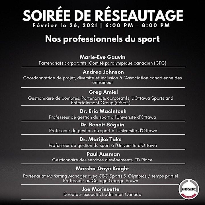 University of Ottawa Sports Business Club - Networking Event image