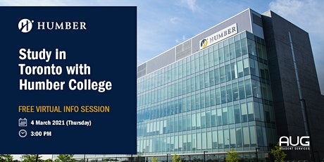 [FREE Virtual Info Session] Study in Toronto with Humber College tickets