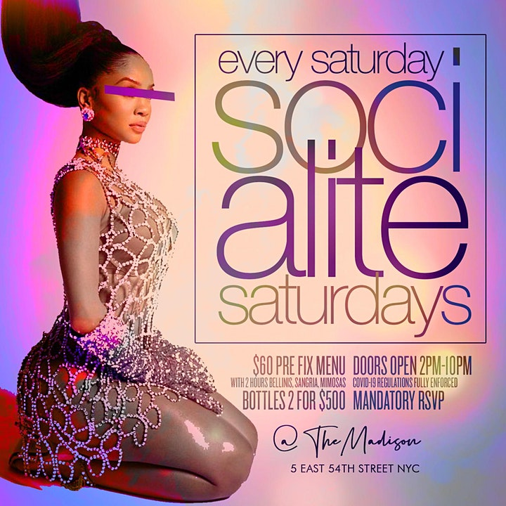 "CEO FRESH PRESENTS: "" SOCIALITE SATURDAY'S "" BRUNCH @THE MADISON NYC image"