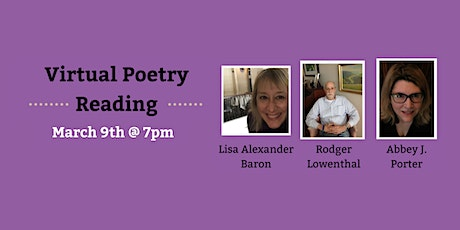 Poetry Reading: Lisa Alexander Baron, Rodger Lowenthal, Abbey J. Porter tickets