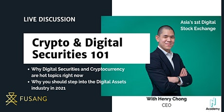 Digital Securities and Cryptocurrencies 101 tickets
