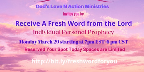 GLNA Ministries Invites you Receive a Fresh Word from the Lord tickets