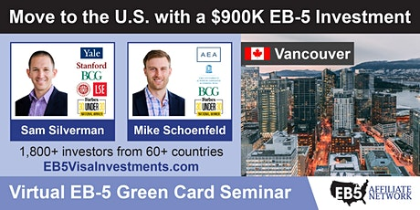 U.S. Green Card Virtual Seminar – Vancouver, Canada tickets