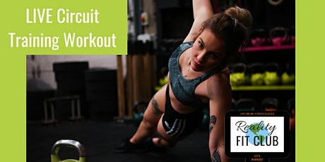 Saturdays 9am PST LIVE Circuit Training: Total Body @ Home Workout tickets