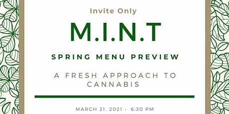 MINT - Cannabis Infused Private Menu Tasting entradas