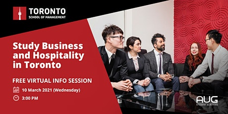 [FREE Virtual Session] Study in Toronto w/ Toronto School of Management tickets