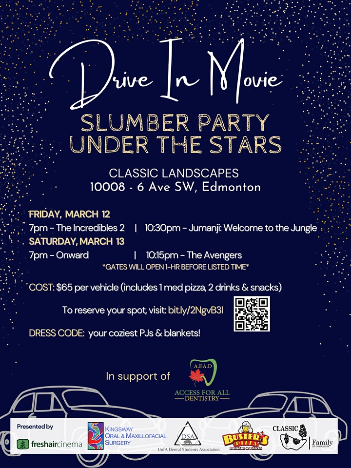 Slumber Party Under the Stars - Charity Drive-In Movie Night image