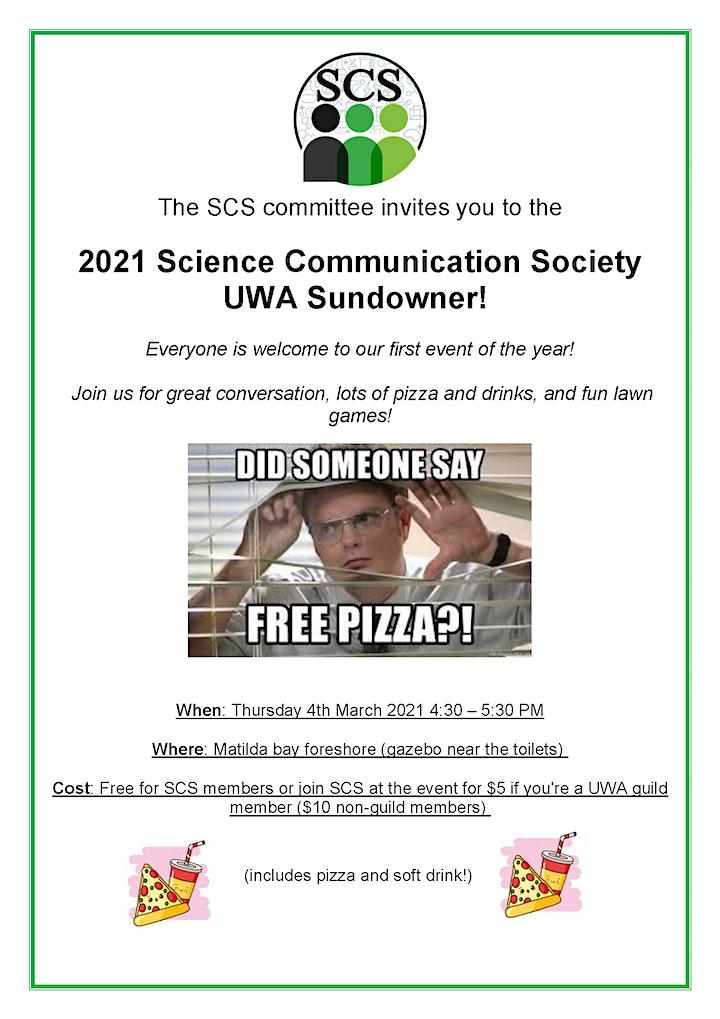 UWA Science Communication Society 2021 Semester 1 AGM & Sundowner image