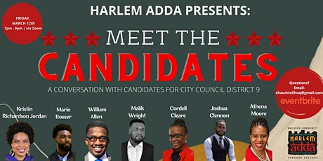 Harlem Adda: Meet the Candidates for City Council District 9 Tickets
