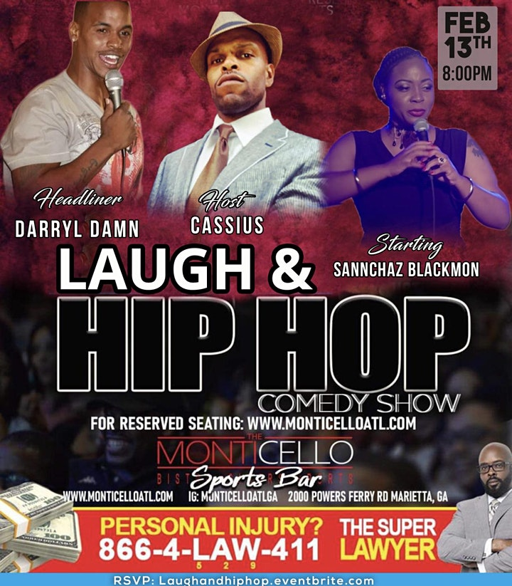 YOUR FAVORITE COMEDY SHOW LIVE AT MONTICELLO SATURDAYS image