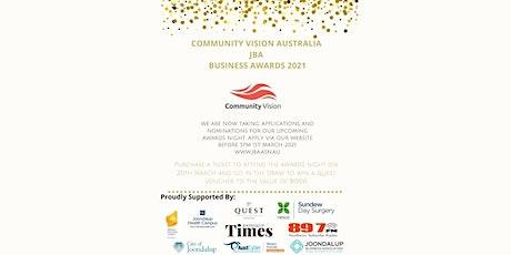 Community Vision Australia JBA Business Awards  2021 tickets