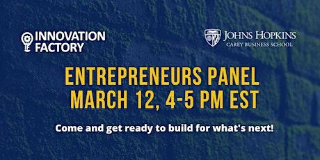Entrepreneurs Panel @ Innovation Factory tickets