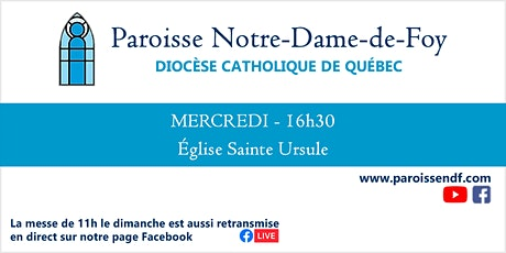Messe Église Sainte-Ursule - Mercredi  - 16 h 30 tickets