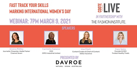 Coote Experts: Live FASTRACK YOUR SKILLS, Marking International Women's Day tickets
