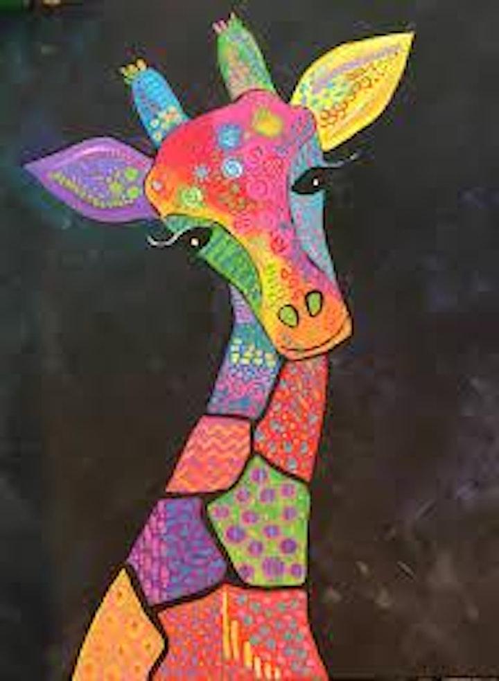 Kids Painting Class Giraffe image