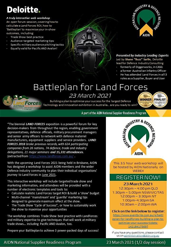 Battleplan for LandForces - Building a plan to optimize your success image
