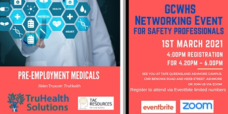 GCWHS Safety Professional Networking tickets