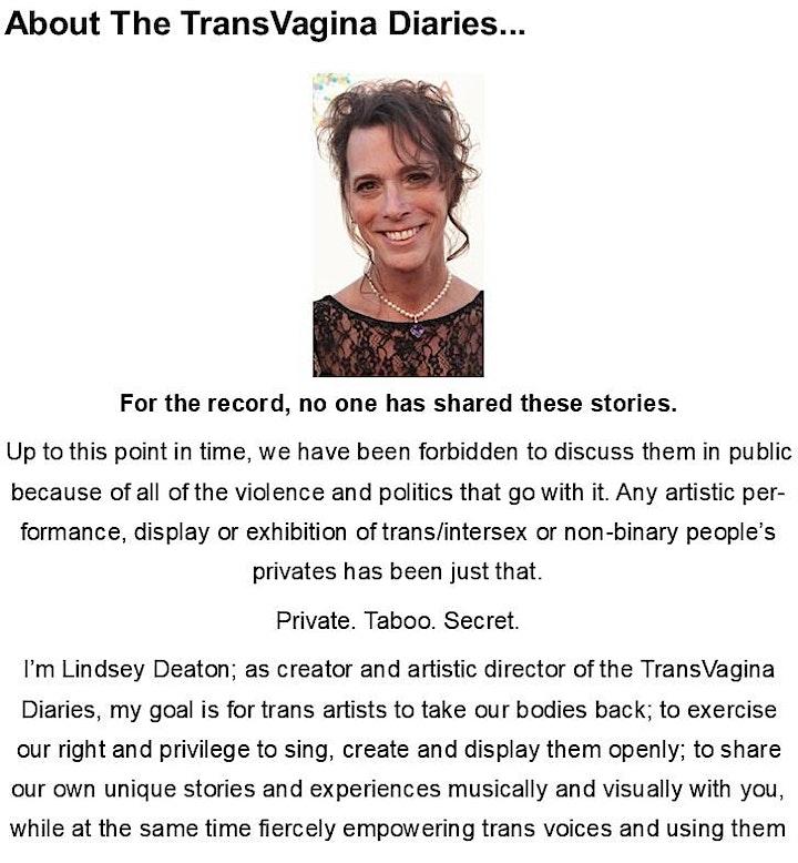 Virtual Screenings of The TransVagina Diaries image
