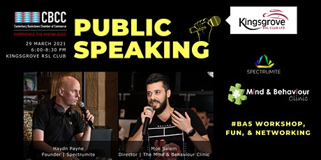CBCC BA5 Workshop | Public Speaking tickets
