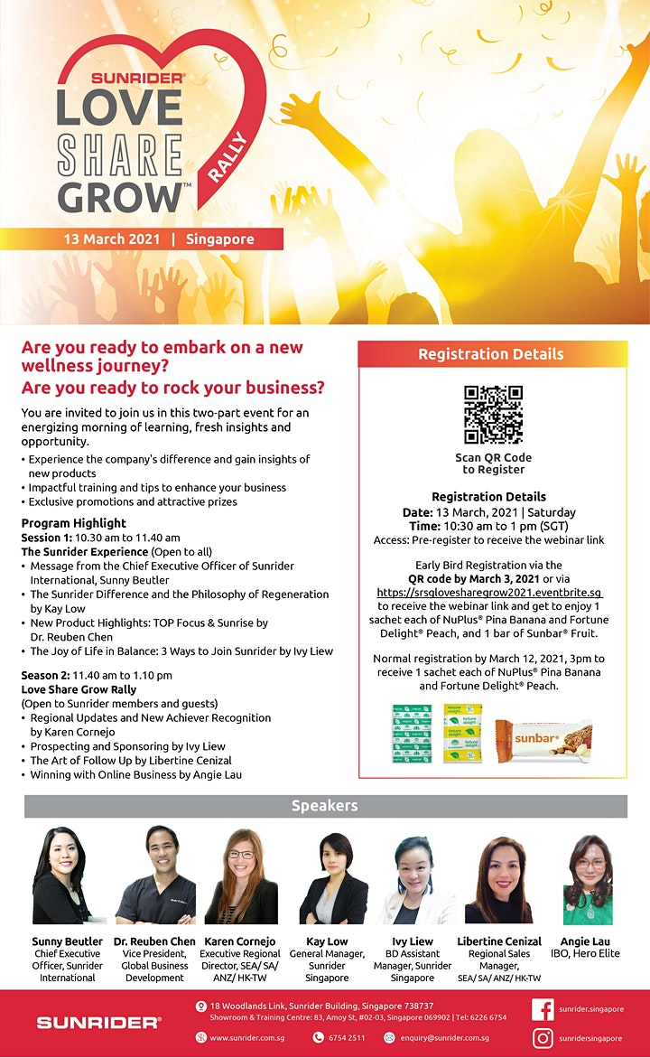 Love Share Grow Rally / The Sunrider Experience – LIVE ONLINE 13 March 2021 image