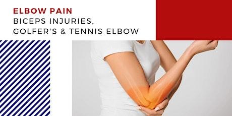 Biceps Injuries & Tennis/Golfer's Elbow tickets