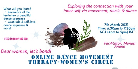 Online Dance Movemen Therapy- Women's Circle (Women's Day Special) tickets