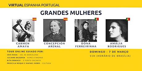 Tour Virtual Espanha e Portugal - Grandes Mulheres tickets