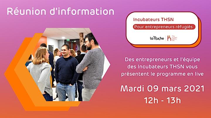 Image pour Réunion d'information - programme d'entrepreneuriat des Incubateurs THSN