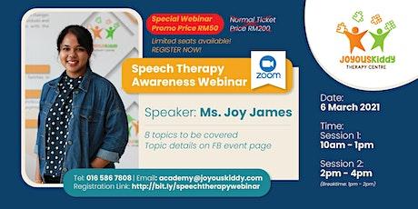 Speech Therapy Awareness Webinar tickets