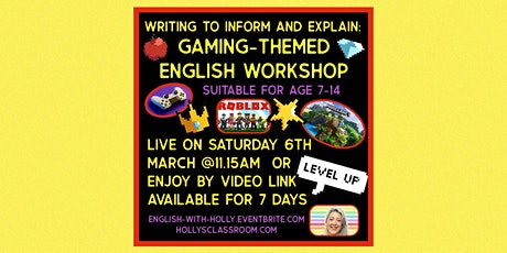 Gaming-Themed English  Workshop tickets