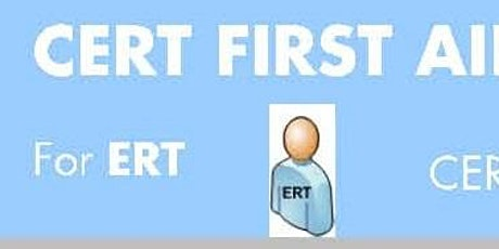 CERT First Aider Course (CFAC) Registration of Interest for Run 109 tickets