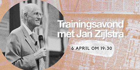 Trainingsavond met Jan Zijlstra tickets