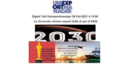 La rinnovata visione export Italia di qui al 2030 biglietti
