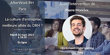 AfterWork RH Paris - La culture d'entreprise, meilleure alliée du DRH ? billets