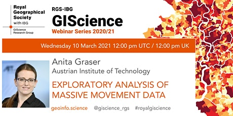 RGS-IBG GIScience Webinar: Exploratory Analysis of Massive Movement Data tickets