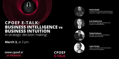 CPOEF E-TALK | Business Intelligence vs Business Intuition tickets
