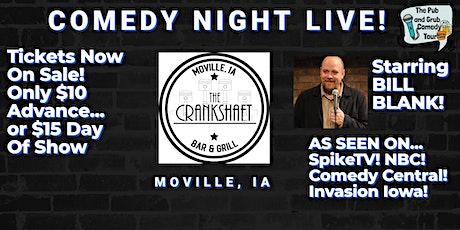 Moville, IA   Pub & Grub Comedy with Bill Blank tickets