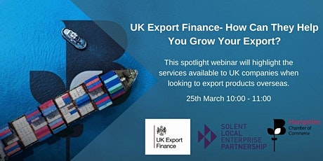 UK Export Finance - How Can They Help  You Grow Your Exports? biglietti
