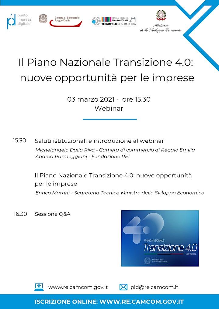 """Immagine WEBINAR """"Il PIANO NAZIONALE TRANSIZIONE 4.0: NUOVE OPPORTUNITÀ PER LE IMPR"""