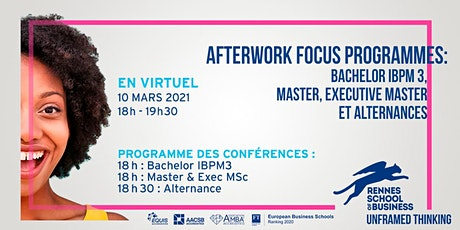 Afterwork Programme : Bachelor IBPM 3,  MSC, Executive Masters [DISTANCIEL] billets
