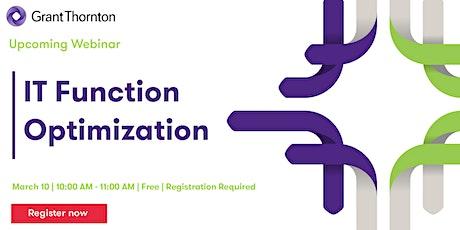 Webinar - IT Function Optimization tickets