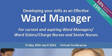 Developing your skills as an Effective Ward Manager tickets