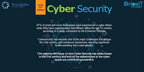 Cyber Security in the 21st century tickets