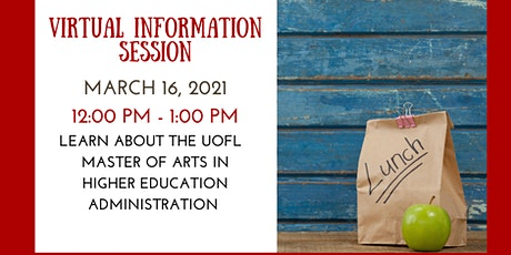 Virtual Information Session on UofL M.A. in Higher Education Administration tickets