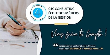 Workshop du 23 Mars  2021 chez C4C, Ecole des métiers de la Gestion billets
