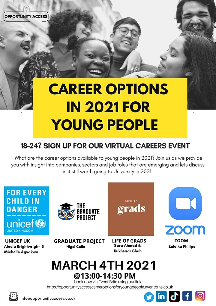 Career Options in 2021 for 18-24's image