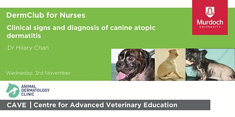 DermClub for Nurses-Clinical signs & diagnosis of canine atopic dermatitis tickets