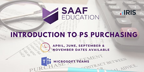 IRIS/ PS Financials: Introduction to PS Purchasing (SAAFW101) tickets