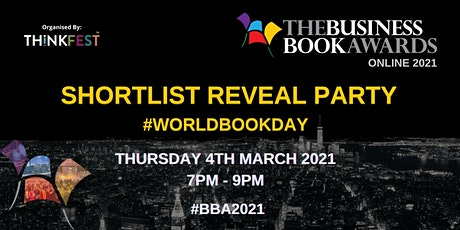 Business Book Awards 2021 - Online Shortlist Reveal Party #WorldBookDay Tickets